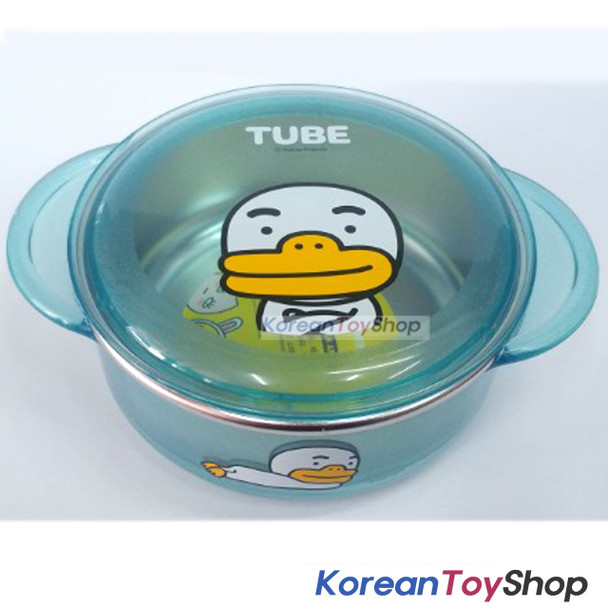 KAKAO Friends TUBE Stainless Steel Bowl 350ml w/ Lid Handle Non Slip Original