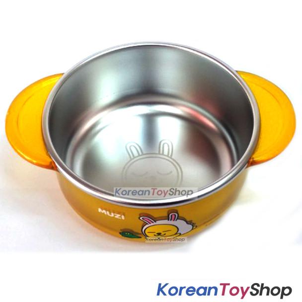 KAKAO Friends MUZI Stainless Steel Small Bowl Handle Non-slip Pads Original