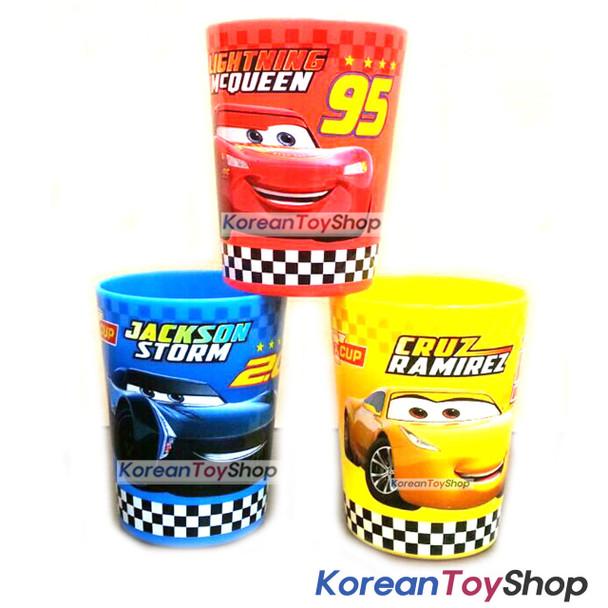 Disney Pixar Cars 3 Plastic Cup 3 pcs Set McQueen Mini Picnic Toothbrush Cup