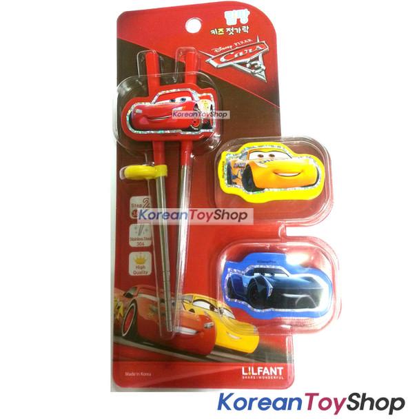 Disney Pixar Cars 3 Stainless Steel Training Chopsticks w/ Replacement Button