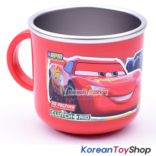 Disney Pixar Cars 3 Stainless Steel Handle Cup w/ Non Slip Pads Korea Original