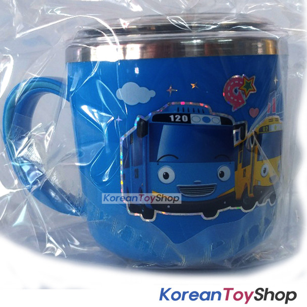 The Little Bus Tayo Stainless Steel Cup 250ml w/ Lid Handle Non Slip Original