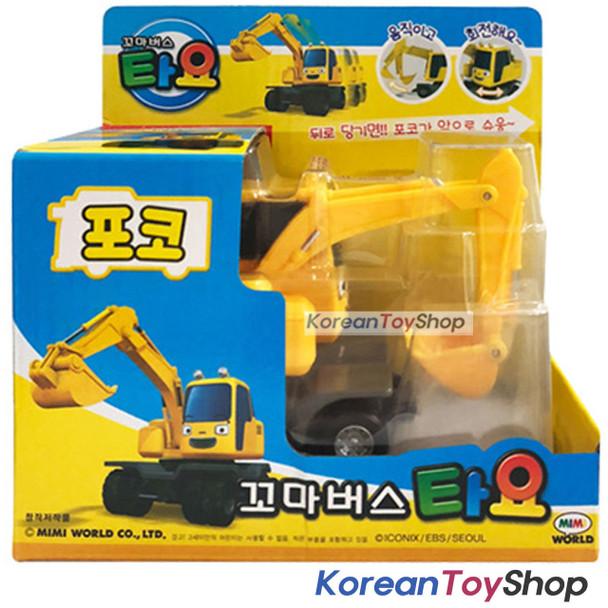 The Little Bus TAYO Diecast Plastic Car POCO Model Excavator Pull Back Gear