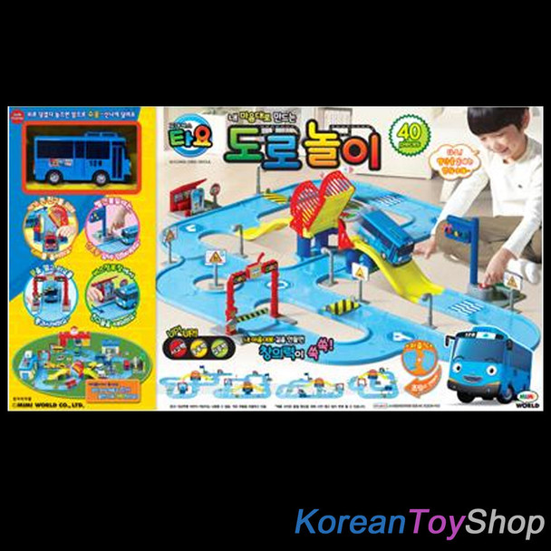 Korean Animation The Little Bus TAYO Play Street Toy Set - Assemble Type