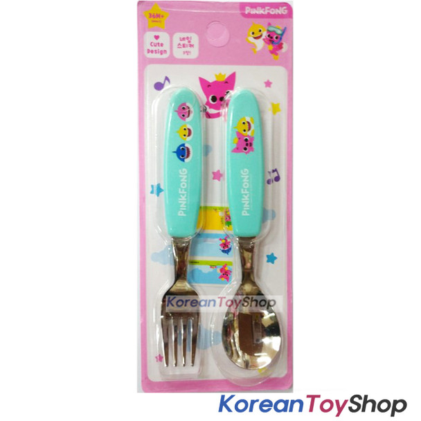 PINKFONG Stainless Steel Spoon & Fork Set Kids BPA Free Original