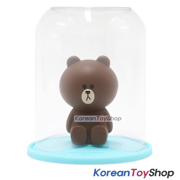 LINE Friends Toothbrush Holder & Cup Set BROWN Model Made in Korea Original
