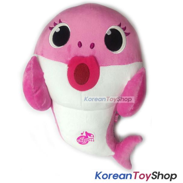 "PINKFONG Pink Shark Cute Soft Animal Doll Plush Toy 11"" Birthday Gift Original"