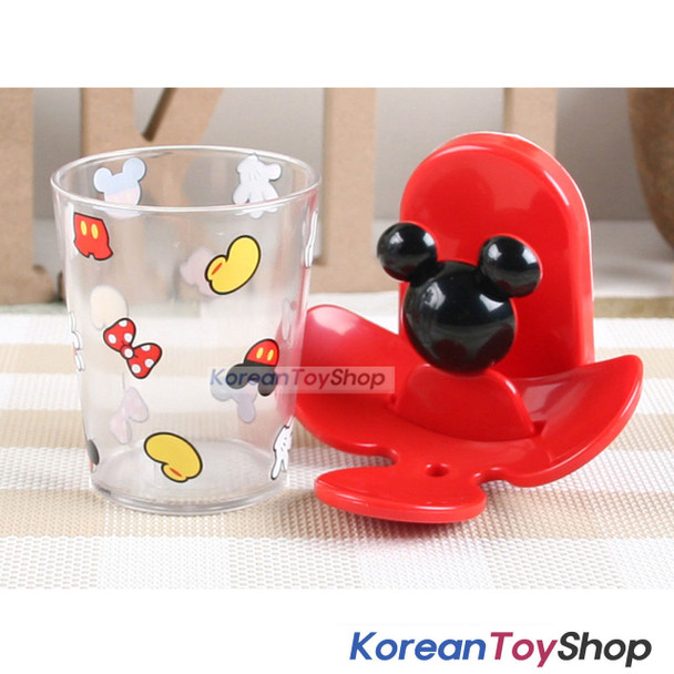 Mickey Mouse Toothbrush Holder & Cup Set Wall Mount w/ Double Side Tape