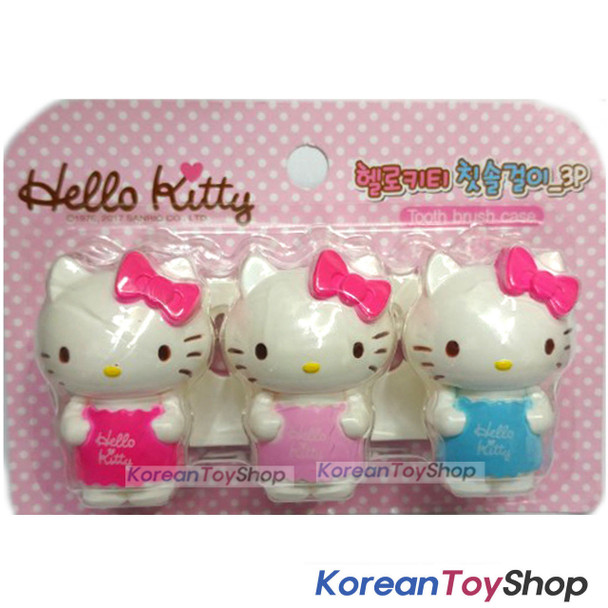 Hello Kitty cute Toothbrush Holder 3pcs Mirror Suction Holder Original