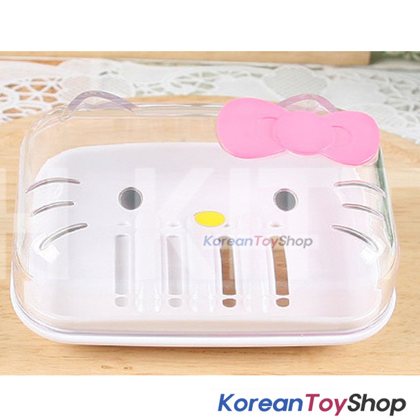 Hello Kitty Cute Plastic Holder Soap Box Case Bathroom Original