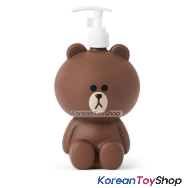 LINE Friends Hand Pump Make Up Liquid Soap Shampoo Dispenser Bottles BROWN Model
