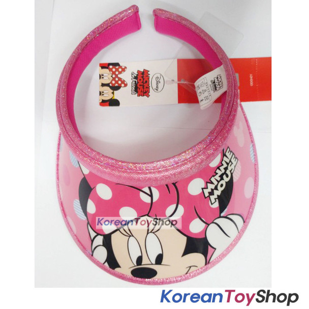 Disney Minnie Mouse Visor Hat Sun Cap Kids Girl Pink Designed Korea Original