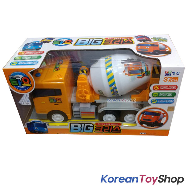 Little Bus Tayo BIG CHRIS Model Concrete Mixer Truck Sound Effect Friction Gear