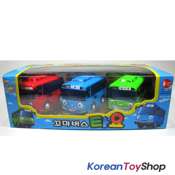 The Little Bus TAYO Bus Wind up Toy A Set(3 Cars-Tayo, Rogi, Gani)