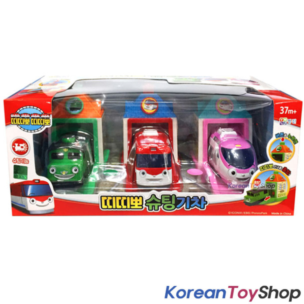 Titipo Trains Shooting Trains & Garage 3 pcs Toy Set Original Shooing & Go