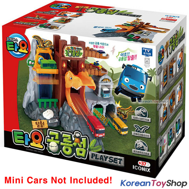Tayo Little Bus Dinosaur Island Play Set Toy Korean Audio WITHOUT Tayo Mini Cars