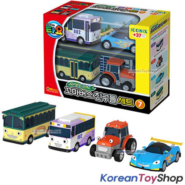 00171 TAYO Little Bus Friends Special V.7 Mini Car 4 pcs Toy Set Nana Leo Rolly Ractor