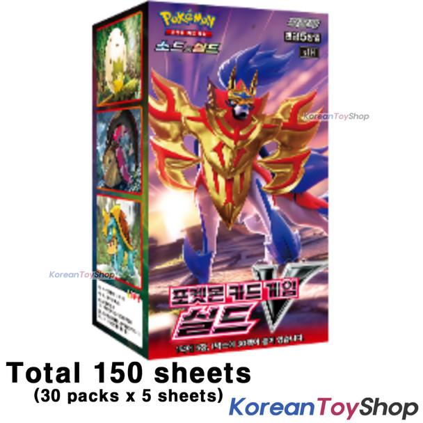 Pokemon Cards SHIELD V Booster Box s1H 30 Packs * 5 Cards Sword & Shield Korean