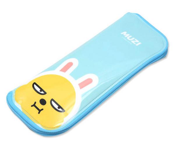 Kakao Friends MUZI Cutlery Case w/ Zipper for Spoon Fork