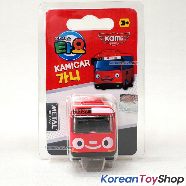 Tayo Little Bus GANI Model Cute Mini Diecast Metal Bus Toy Car Kamicar Red Bus