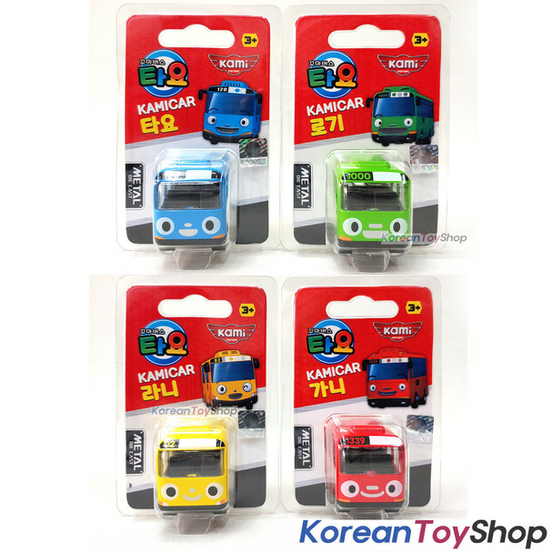 Tayo Little Bus TAYO ROGI RANI GANI Models 4 pcs Cute Mini Diecast Metal Bus Toy