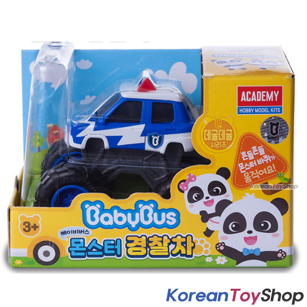 BabyBus Panda Monster Police Car Patrol Toy Car Free Wheels Academy Authentic 100%