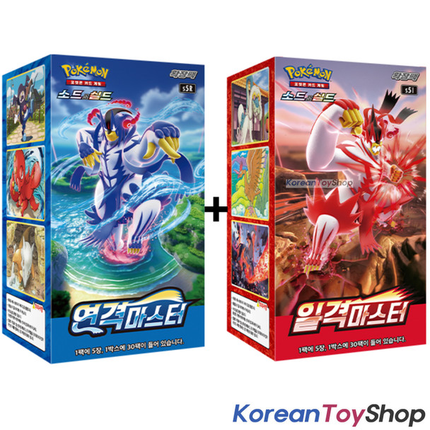 Pokemon Cards Rapid & Single Strike Master Booster Box s5R & s5I Korean Ver