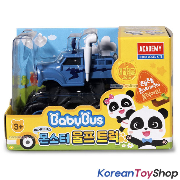 BabyBus Panda Monster WOLF TRUCK Toy Mini Car Free Wheels Academy Authentic 100%