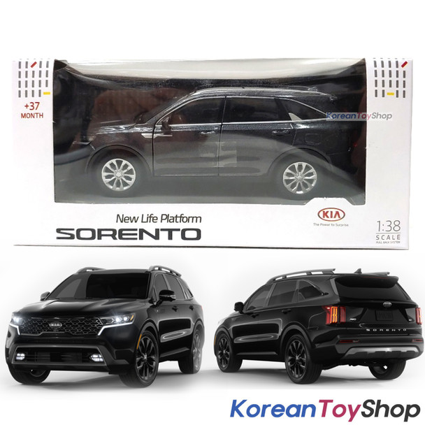 Kia Motors SORENTO MQ4 Diecast Mini Car Toy 1:38 Miniature Model BLACK
