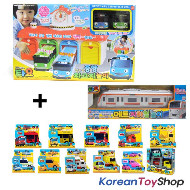 The Little Bus Tayo Main Garage w/ 15 Cars Full Set Toy Korean Animation