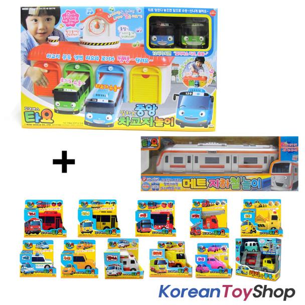 The Little Bus Tayo Main Garage w/ 15 Cars Full Set Toy Korean Animation