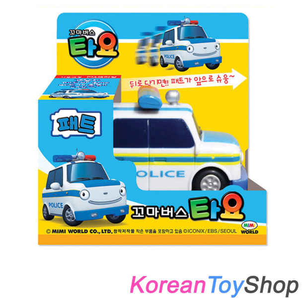 The Little Bus TAYO Main Plastic Diecast Mini Car, Pat Model Patrol Car Original