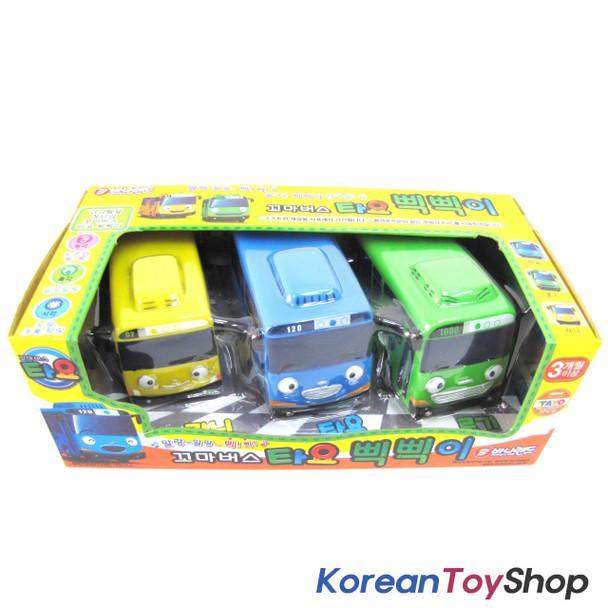 The Little Bus TAYO Soft Toy Car 3 pcs Set Whistle Beep Beep Tayo Rogi Rani