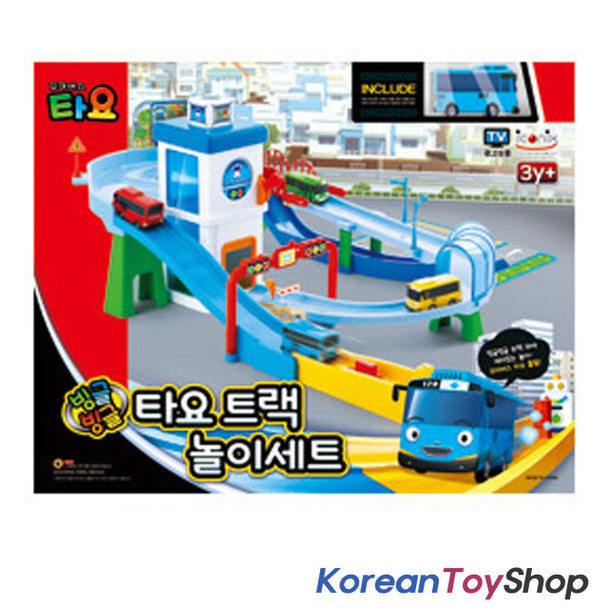 01030 - The Little Bus TAYO Track Play Set Garage Toy w/ Mini Tayo Korean Animation