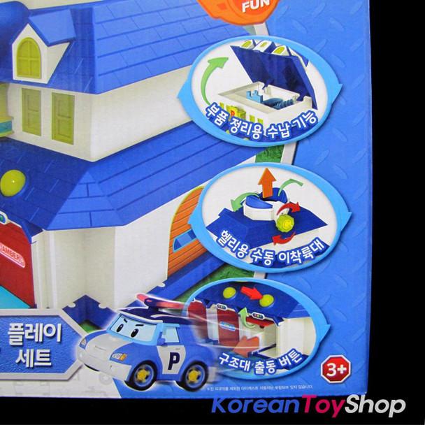 Robocar Poli Headquarter Playset Rescue Center Toy Station Garage for Diecast