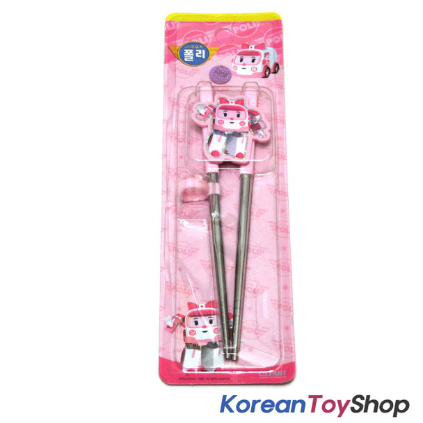 Robocar Poli Stainless Steel Training Chopsticks Step 2 / Amber Model BPA Free