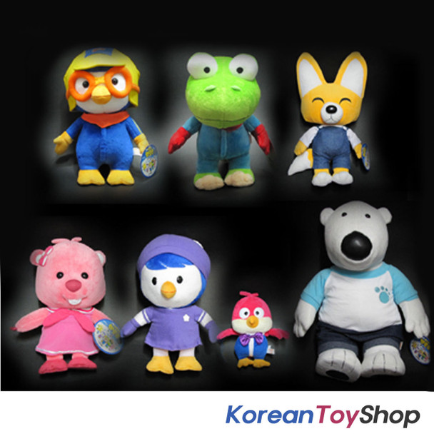 Pororo 7 Dolls Plush Toys Full Set Pororo Crong Eddy Loopy Petty Harry Poby