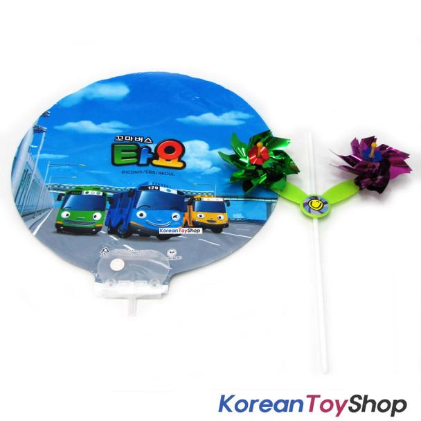 Little Bus Tayo Party Picnic Balloon Birthday Party Supplies w/ Pinwheel V.1