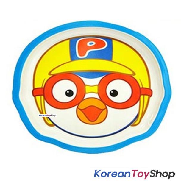 Pororo Food Tray Melamine Cute Pororo Face Theme Easy Light for Kids, Children