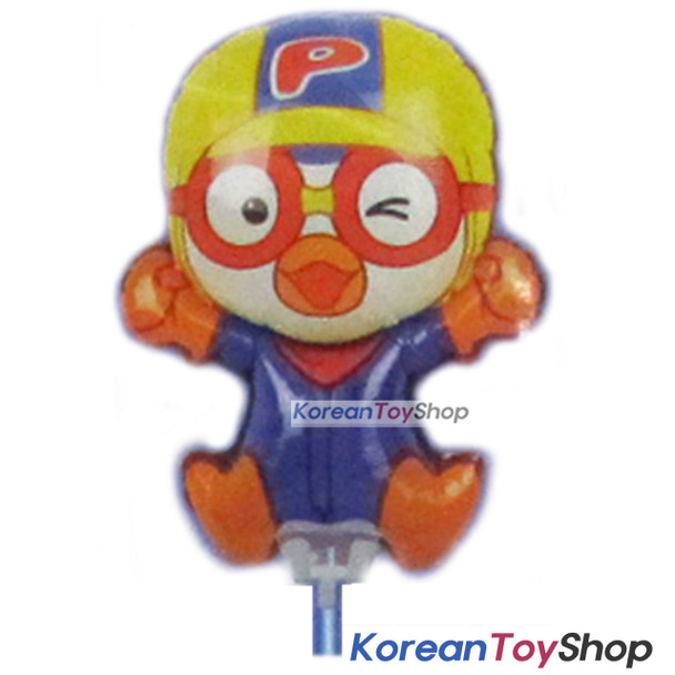 Pororo Balloon w/ Stick Birthday Picnic Party Supplies - Pororo Model Doll Type
