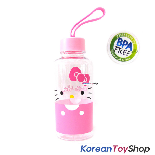 Hello Kitty Tritan Water Bottle w/ Silicone Handle / BPA Free / Made in Korea