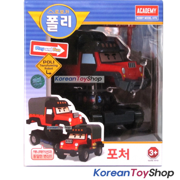 Robocar Poli POACHER Transformer Robot Car Toy Action Figure Academy Genuine