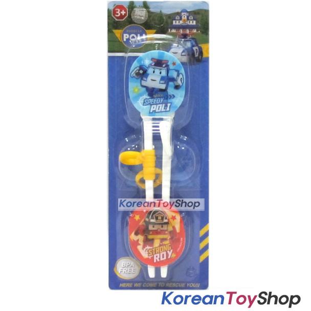 Robocar Poli Training Chopsticks w/ Buttons Right Handed Poli Model Blue
