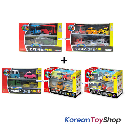 TAYO The Little Bus Mini Cars Friends Set Special Mini Car Toy 6PC Miniature Kid