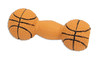 Coastal Rascals Latex Basketball Dumbbell Dog Toy, 4 Inches
