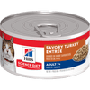Hill's Science Diet Adult 7+ Savory Turkey Entree Canned Cat Food, 5.5 Oz.