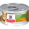 Hill's Science Diet Youthful Vitality Adult 7+ Chicken & Vegetable Stew Canned Cat Food, 5.5 Oz.