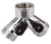 Landscapers Select Y-Connector Metal Hose Connector With Shut Off