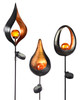 Giftcraft Solar Flame Lighted Metal Stake
