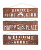 Giftcraft Camping Cut-Out Metal Sign